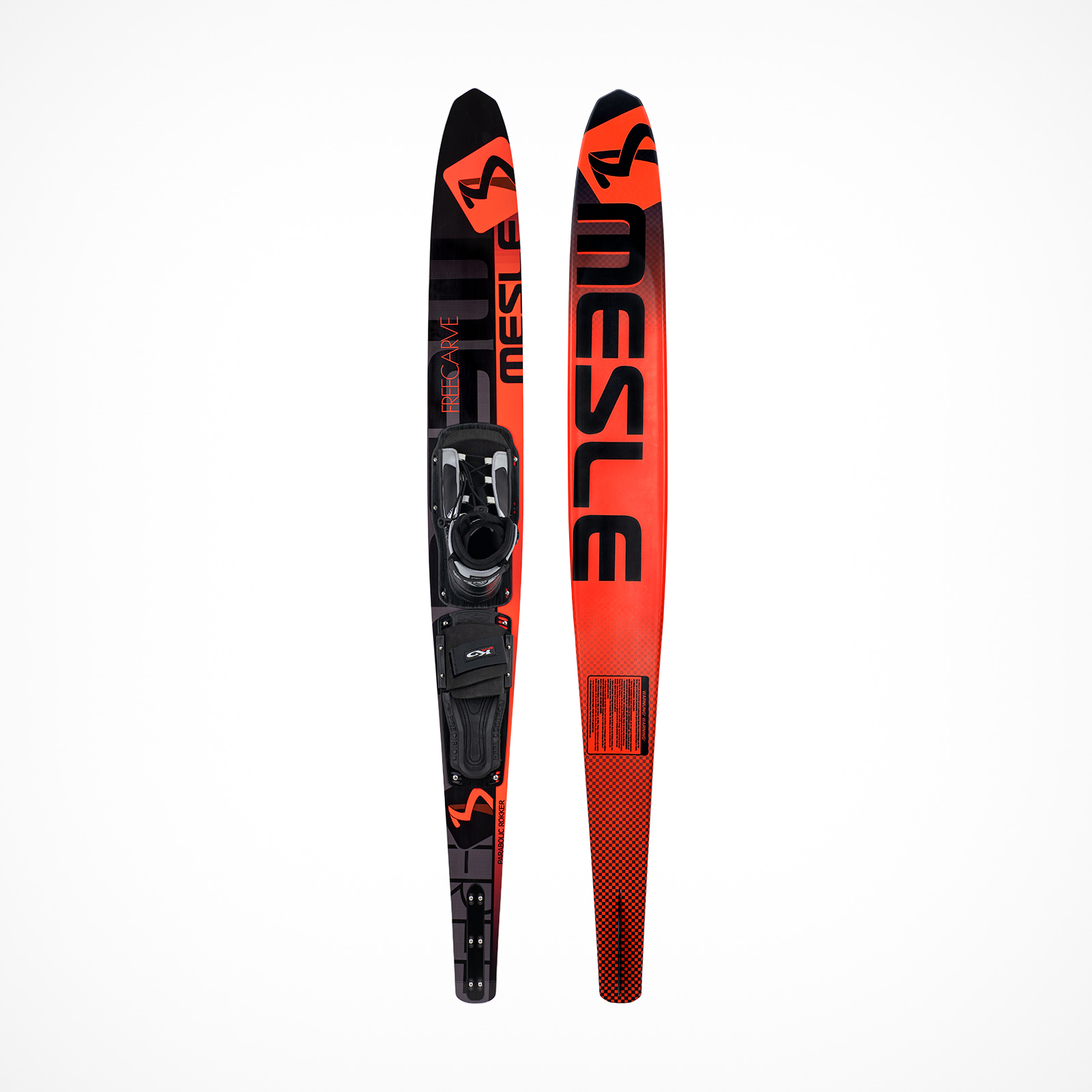 MESLE Slalomski Freecarve red 65'', with Comp Binding, fr Hobby Skiers up to Pro Skiers, up to 75 kg, Lenght 165 cm