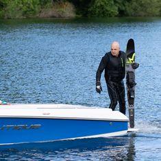 Mesle Monoski Freecarve 170 cm blau, sportlicher Slalomski für Boot und Seilbahn