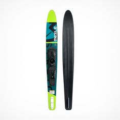 MESLE Mono Waterski Strato Pro 170 cm in green petrol with B6.2 Boot-Binding, Slalomski up to 100 kg, for Beginners and advanced Skiers