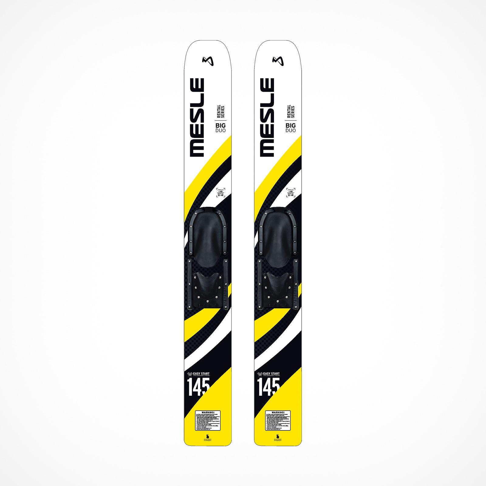 MESLE Big Duo 145cm, yellow, Rentalski for children