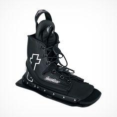 D3 Slalom Ski Binding T-Factor Front, Mono Water Ski Boot Binding, black