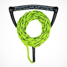 MESLE wakeboard and water ski rope Ergo in lime with ergonomic EVA foam handle, floating, length of rope with handle 23 m, can be shortened to 16.7 m, with rope keeper