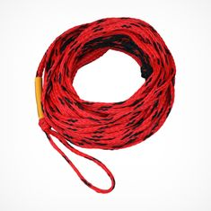 Mesle Water Ski and Wakeboard rope Ergo red with durable rubber grip handle, Product image