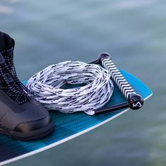 MESLE Wakeboard Water Ski Rope Combo white black floating line with Handle Product Image
