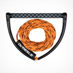 MESLE Wakeboard Rope ONE orange with 15'' Grip, Length 16.8 m - 18.3 m, EVA Soft Grip, floating, inclusive Rope Keeper