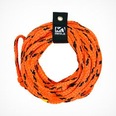 MESLE Tow Rope Bungee 4 Person, with Bungee Effect for Towables, Fun-Tubes, Donuts behint the boat, orange black