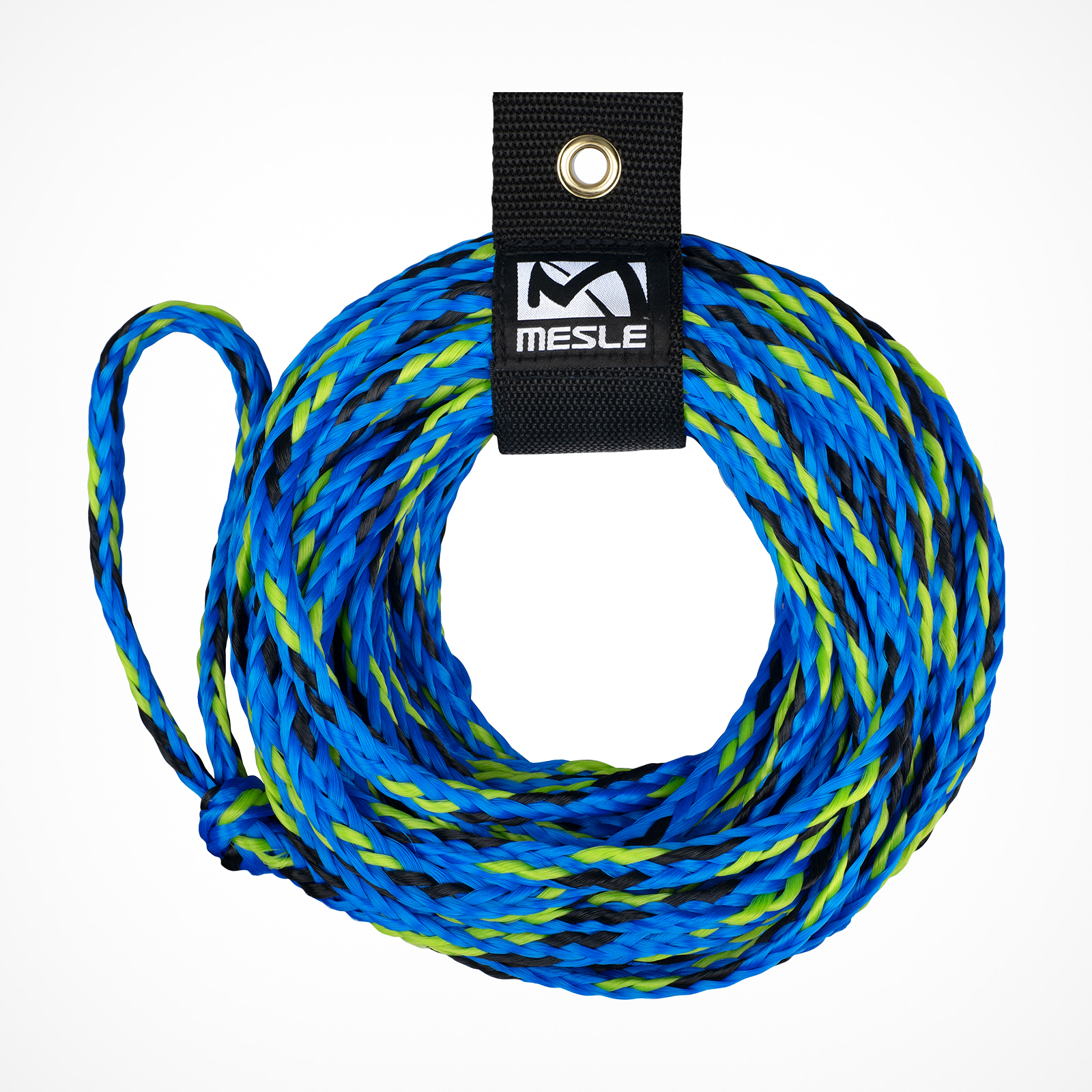 MESLE Schleppleine for 2 Persons towable Tubes, blue-green, inclusive Rope Keeper