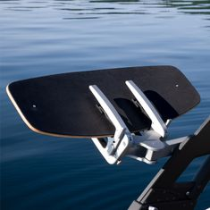 Mesle Waketec Wakeskate Truth Length 41'' with Fins and EVA Deck in boat rack