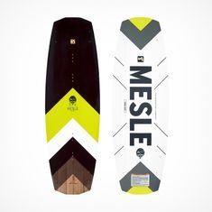 MESLE Wakeboard Pilot 134cm Continuous Rocker, lime