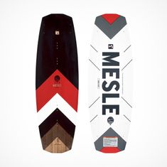 MESLE Wakeboard Pilot 138cm Continuous Rocker, red