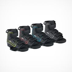 MESLE Wakeboard Bindings Fuse, color coded per size