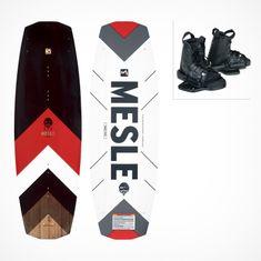 MESLE Wakeboard Package Pilot 138cm with Bindings Moto