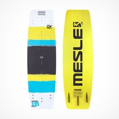 MESLE Wakeboard Easy Wake II in yellow with Fins