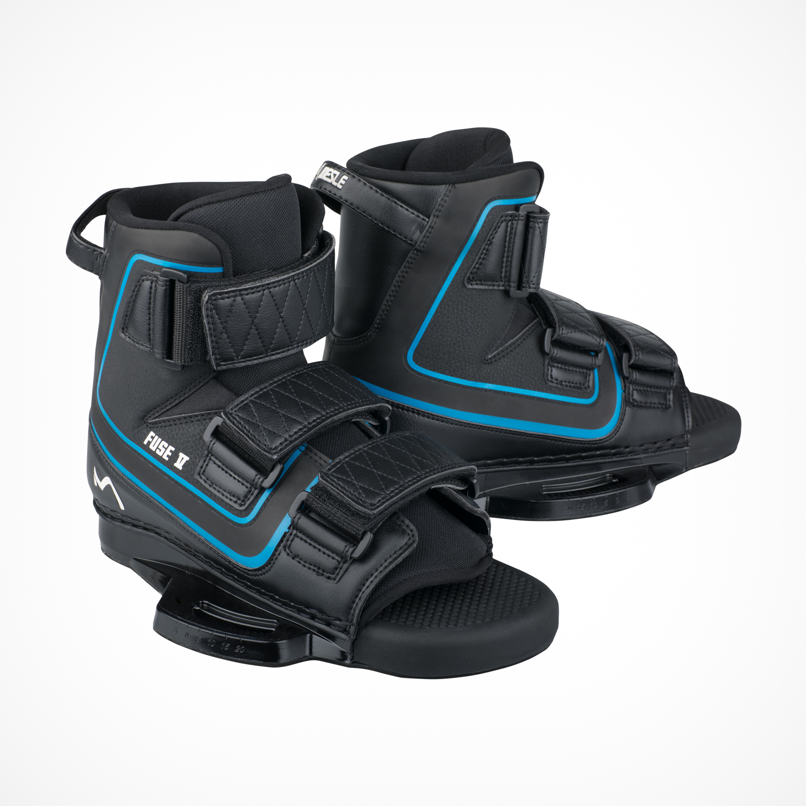 Mesle Wakeboard Bindings Fuse V Open Toe Velcro Binding, color-coded, product image