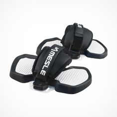 MESLE Wake- & Kiteboard Bindings ProGrip 2, One-Size Straps for Wakeboard and Kiteboard, black white