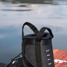 WAKETEC Wakeboard Bindings Moto, black, Boots with easy entry handles