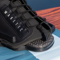 Mesle Waketec Wakeboard Bindings Onset open toe lace system, for beginners, black, product image