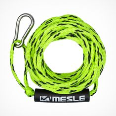 MESLE Tube Set Tow Rope in green, floating and with Carabiner