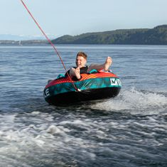 MESLE Tube Speedster 58'' in petrol red for 1 Person, inflatable towable Water Donut for Motor-Boats & Jet-Skis