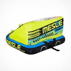 MESLE Towable Funtube Fomula 2 for 2 Persons, Funtube for Boats, in blau lime