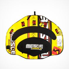 Mesle Towable Funtube Airborne HDY Heavy Duty 4 Person Water sports Deck Tube with wings, yellow red