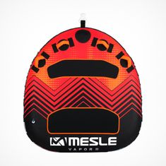 MESLE Tube Vapor in red for 2 Persons, inflatabel and towable Funtube for Children and Adults, Motor-Boats & Jet-Skis