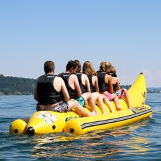 MESLE Skibob Pro HD 8 Person, Heavy Duty Banana boat for commercial use