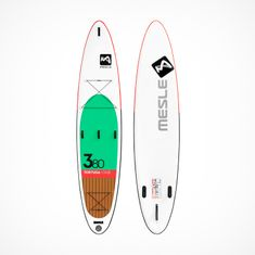 MESLE SUP inflatable Stand Up Paddle Board Tortuga, for Tours, green