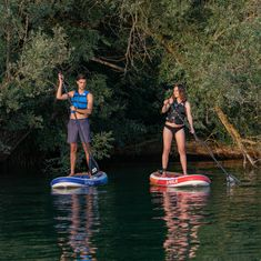 MESLE inflatable Stand Up Paddle Board Bonaire 6.0 Light 10'8 in blue brown with Fins