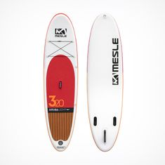 MESLE inflatable Stand Up Paddle Board Aruba 6.0 Light 10'8 in red brown with Fins