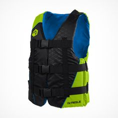 MESLE Buoyancy Aid H210 lime, 2XS-4XL, 50-N Impact-Vest for Adults and Children, Waterski, Wakeboard and Paddle Vest