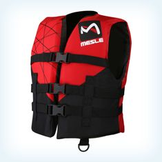MESLE Buoyancy Aid Club Junior 420 D 3-Belt, black-red