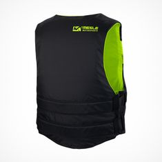 MESLE Lifejacket V210 in green-black, lightweight Buoyancy Aid for Adults & Youths, XS-XL from 30 kg , 50-N, for SUP Water Skiing Paddling Wakeboarding Kayak Snorkelling