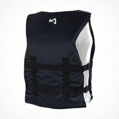 MESLE One-Size Buoyancy Aid Sportsman Women in white black, Universal-Size from 40 to 70+ kg for SUP Waterski Paddling Wakeboarding Snorkeling Kajaking