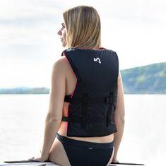 MESLE One-Size Buoyancy Aid Sportsman Women in berry black, Universal-Size from 40 to 70+ kg for SUP Waterski Paddling Wakeboarding Snorkeling Kajaking