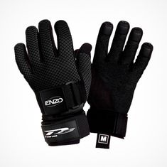 D3 Gloves Enzo Tournament BLK for advanced and professional Slalom Skiers