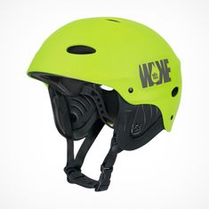 WAKETEC Helmet WK 2.8 in lime green for Wakeboarding behind boats or at cable parks, adjustable